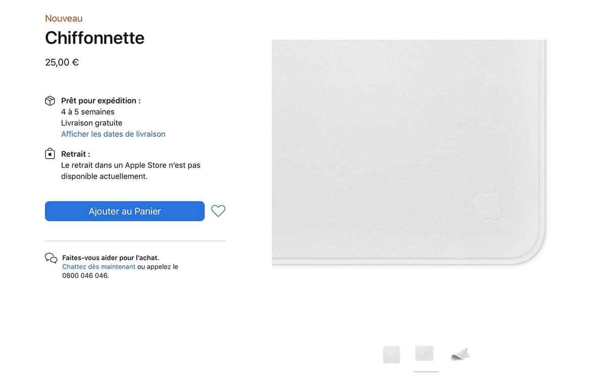 La chiffonnette ultra chère d'Apple est un succès : elle est déjà en rupture de stock !
