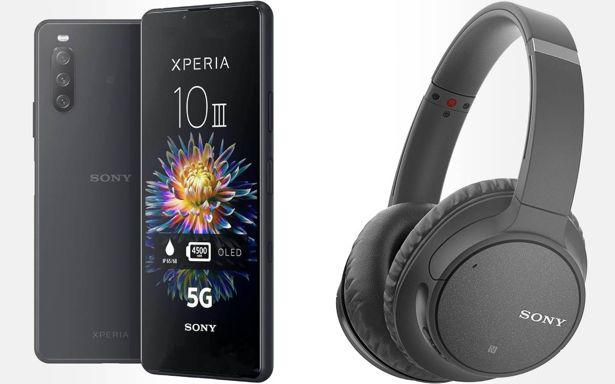 pack Sony smartphone Xperia 10 III + casque WH-CH710N