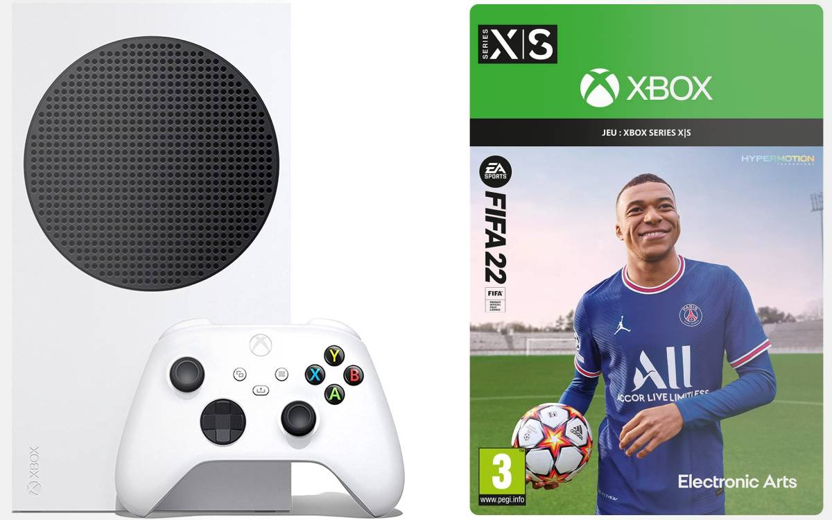 pack Xbox Series S FIFA 22 chez Amazon